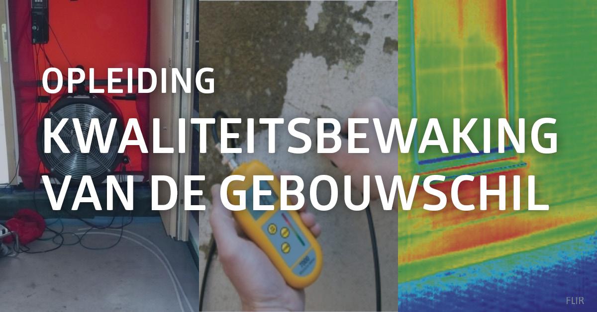 Illustratie van de verschillende middelen tot kwaliteitsbewaking van een gebouwschil