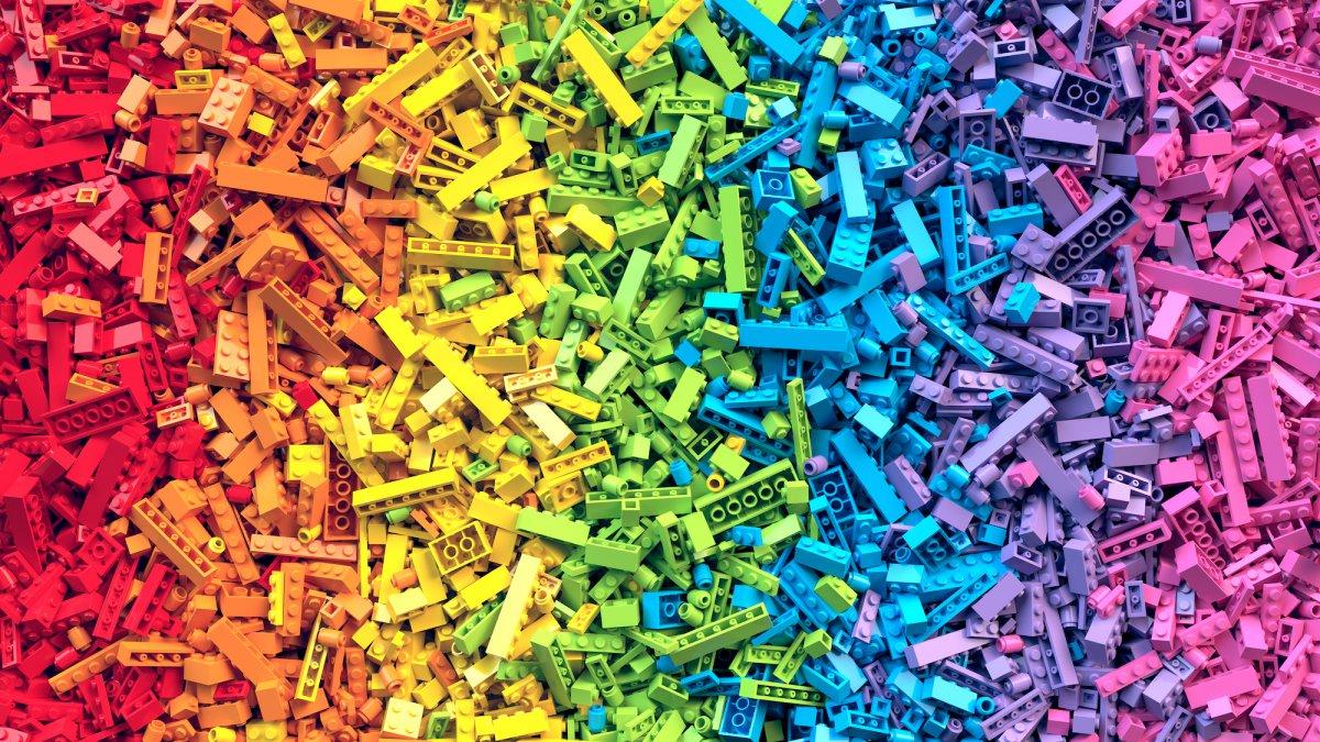 Afbeelding van legoblokjes in allerlei kleuren