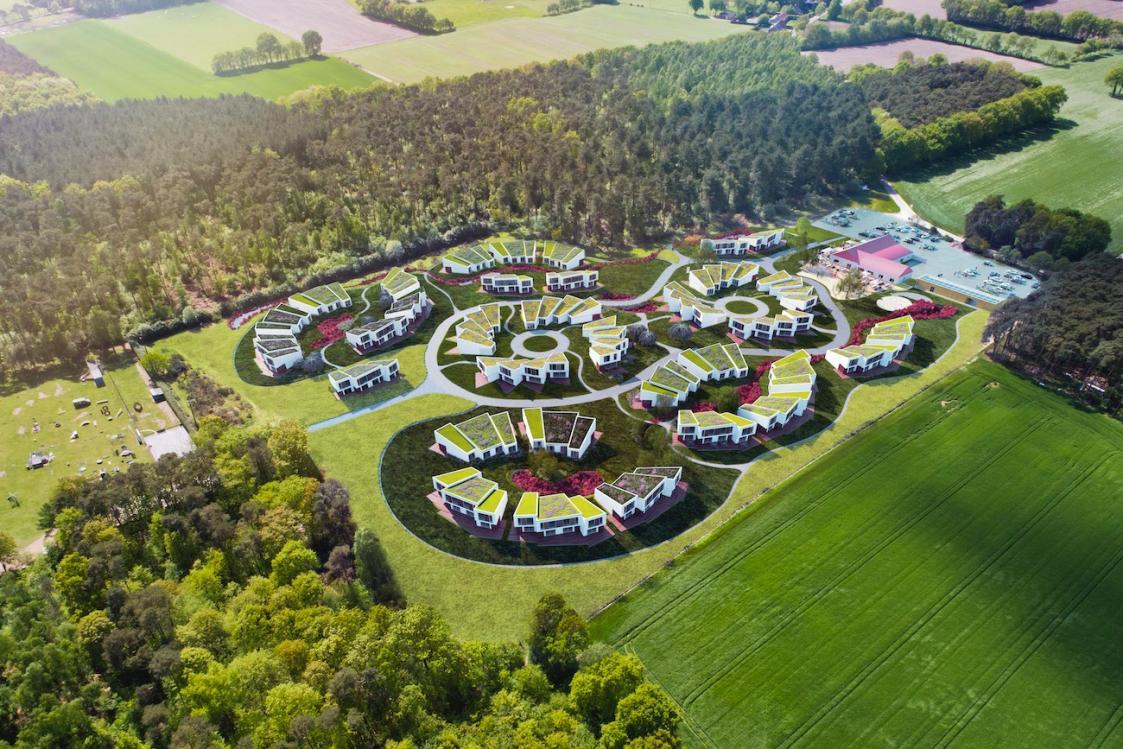 3D-render van vakantiepark in Eksel