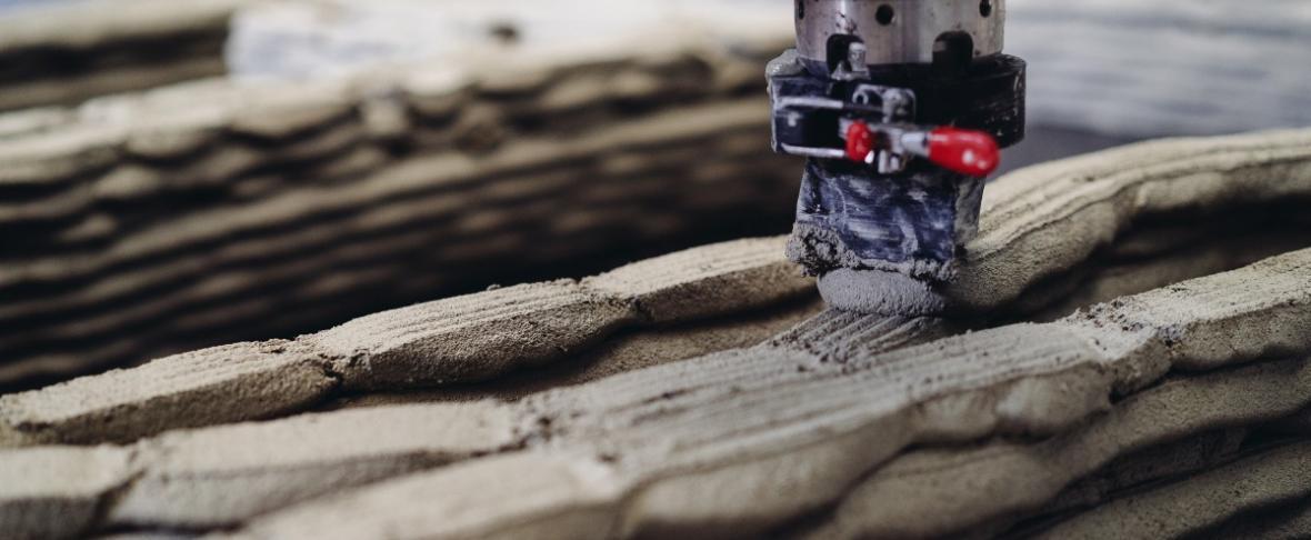 3D-printen met beton bij KampC