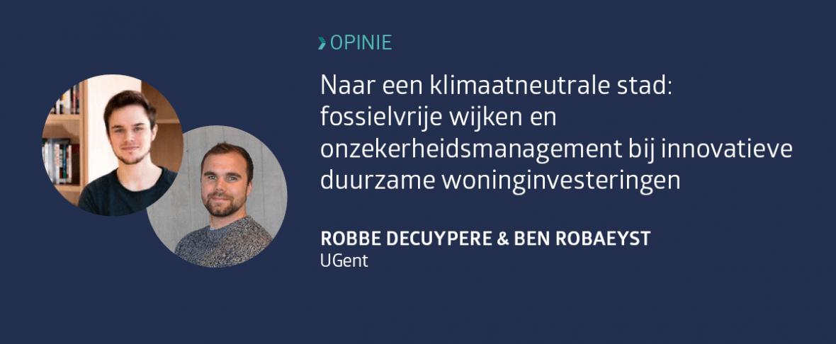 Robbe Decuypere en Ben Robaeyst