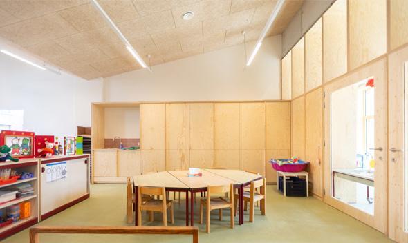Rooilijn Architectuur Scholenbouw Pools Grenen GBS Het Oogappeltje