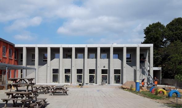 Rooilijn Architectuur GBS Het Oogappeltje Gemeentelijke Basisschool Wommelgem Speelplaats Kleuterschool