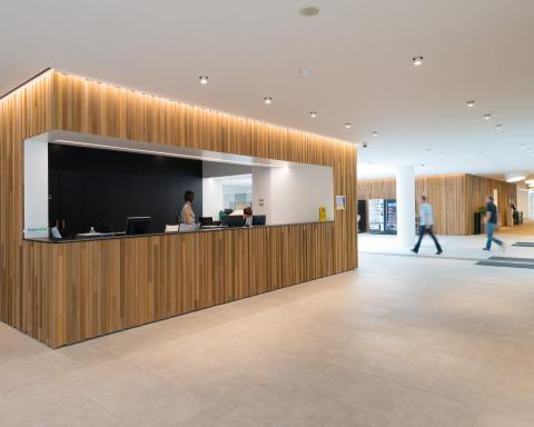 Consciencegebouw, Vlaamse overheid - inkomzone