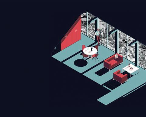 Een abstracte illustratie van het modulaire bouwconcept The Mobble