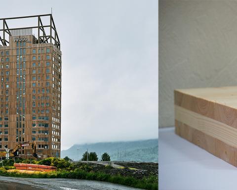 Mjøstårnet, het grootste houten flatgebouw ter wereld