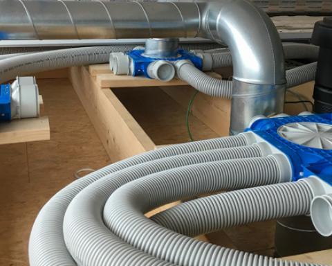 Opleidingsopstelling ventilatie bij Syntra Limburg