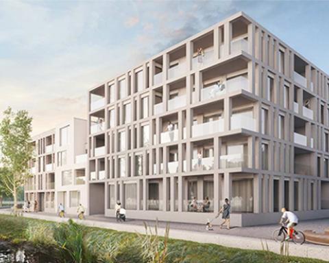 Ventilatie woonproject Schelde-Eiland Oudenaarde